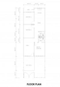 Rumah Teres Satu Tingkat Mampu Milik di Jasin 20' X 65'