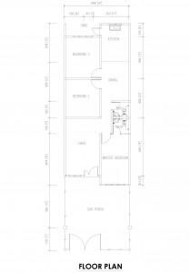 Rumah Teres Satu Tingkat Mampu Milik di Jasin 20' X 70'