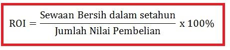 Return On Investment (ROI) Pelaburan Hartanah