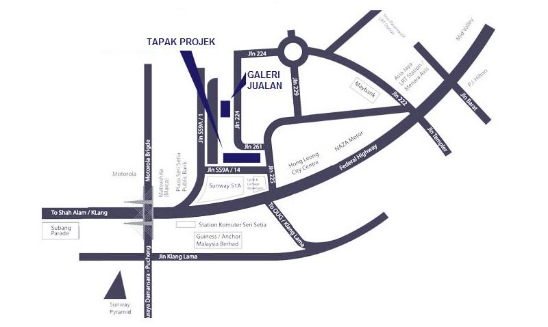 Peta Projek Petaling Jaya