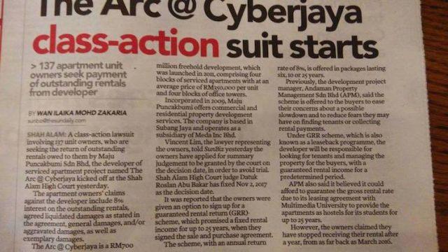 Beli rumah undercon Arc@Cyberjaya GRR