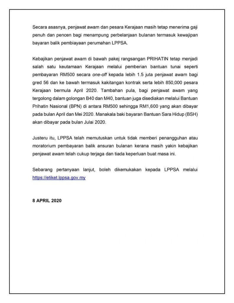 moratorium LPPSA